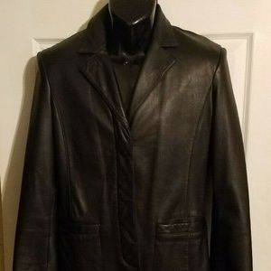 Anne Klein Buttery Lamb Skin Leather Jacket
